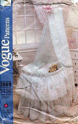 Vogue Craft Pattern 2869 Baby's Bassinet Accessories