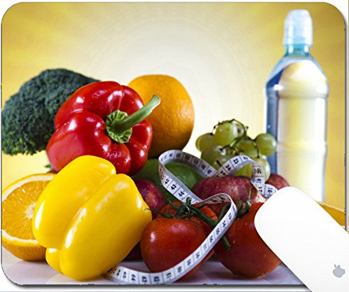 Luxlady Gaming Mousepad 9.25in X 7.25in IMAGE: 23225394 Vegetable and fruit fitness sunset