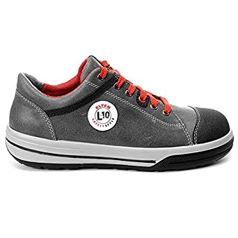 sportlich leicht ELTEN Sicherheitsschuhe VINTAGE Pirate Low ESD S3 grau//rot Stahlkappe Herren Sneaker