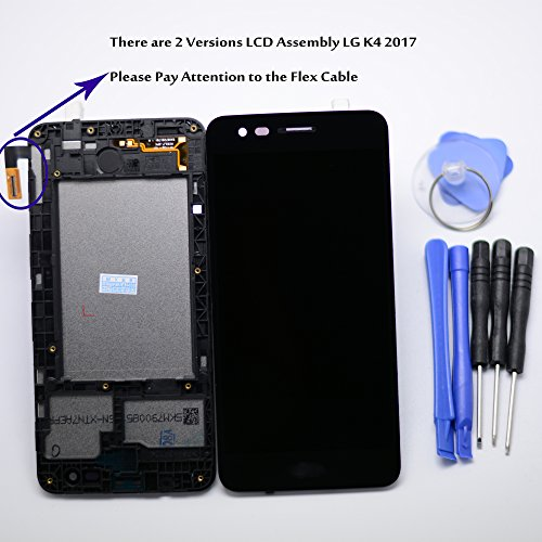 Eaglestar Grade A+ Replacement Pre-installed Full LCD Assembly Display Screen Touch Digitizer Parts With Frame Housing For LG K4 2017 M150 M160/LG Fortune M153 Cricket 5''