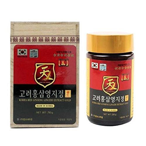 Cheap 250g(8.8oz) X 1ea, Korean Red Ginseng + Reishi Mushroom Extract_lingzhi Gold