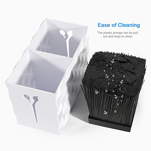 Double Case Storage Box for Shears Combs Brushes, Salon Scissors Holder, Shears Rack for Pet Groomer, Hair Tools Organizer,6 x 3.2 x 4 inch, White by Beyond (Image #5)