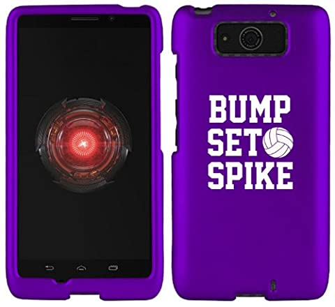 Motorola Droid MAXX XT1080M Snap On 2 Piece Rubber Hard Case Cover Bump Set Spike Volleyball (Rubber Spike Phone Case)