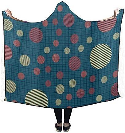 Rtosd Couverture à Capuche Cercles à Rayures sur Couverture 60x50 Pouces Wrap à Capuche Comfotable