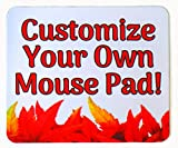 design your own mouse pad - Personalized Mouse Pad – Add pictures, text, logo or art design and make your own custom mousepad. Each custom mouse pad comes in a colorful gift bag. Perfect gift for home or office.