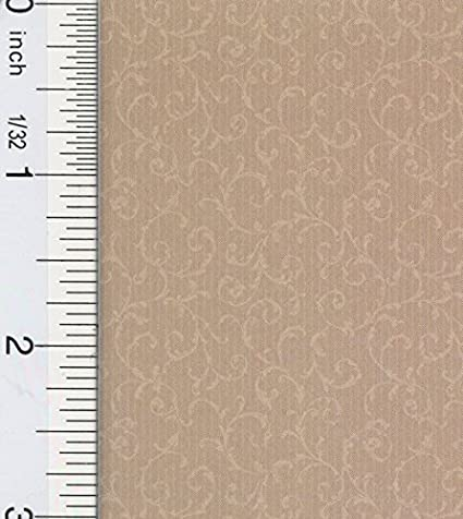 Dollhouse Wallpaper South Hill Manor Scroll Grey
