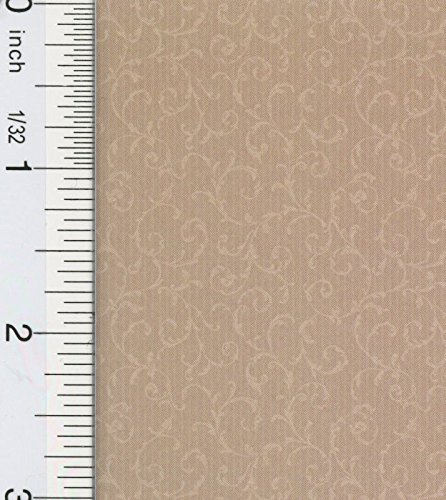 Dollhouse Wallpaper South Hill Manor Scroll Cream Manor Cream