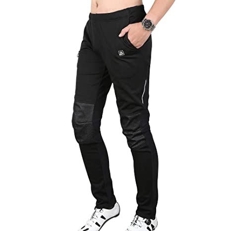 Outdoor Men Warm Trousers Thermal Sports Tights Running Cycling Windproof Pants
