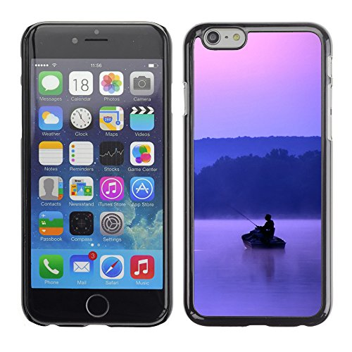 Premio Sottile Slim Cassa Custodia Case Cover Shell // V00002607 Fisherman Crépuscule // Apple iPhone 6 6S 6G PLUS 5.5""