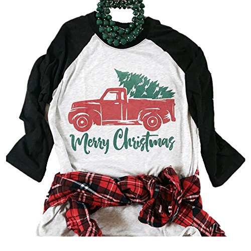 Christmas Shirts - Nailyhome Vintage Holiday Unisex Funny Raglan T-Shirt Adult & Youth