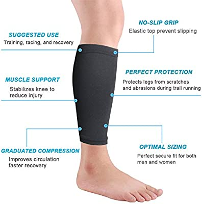 Great for Shin Splints// any Sport NWT Compression Calf Sleeves w// UV Protection