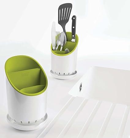 Amazon.com: Joseph Joseph Dock Cutlery Drainer and Organizer, White/Green: Kitchen & Dining