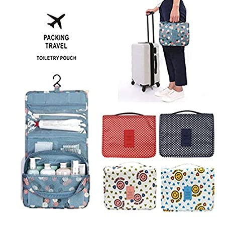 Amazon.com: GOP Store Travel Waterproof Portable Women Cosmetic Organizer Pouch Hanging Wash Bags Man Toiletry Bag Cute Makeup Neceser Sac Maquillage: ...