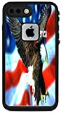 I Love America Quote USA Flag with Eagle Design Print Image Lifeproof Fre iPhone 7 Plus VINYL STICKER DECAL WRAP SKIN