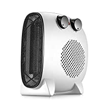 MAZHONG Space Heaters Fan Heater, Portable Electric Fan Heater Mini Adjustable Air Conditioner Heater White