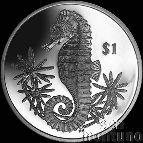 SEAHORSE - 2014 British Virgin Islands $1 Uncirculated Cupro Nickel One Dollar Coin
