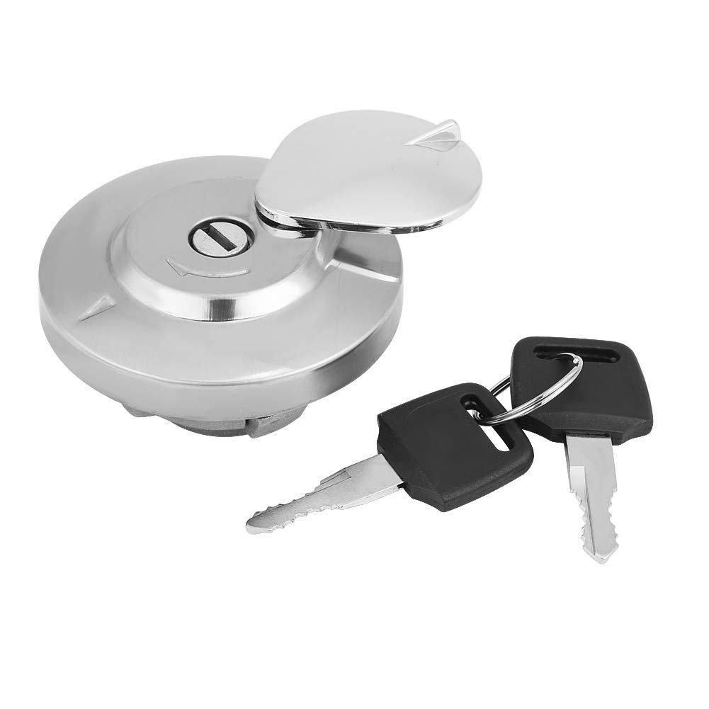 KIMISS Motorcycle Fuel Gas Cap Tank Cover with 2 Keys for Honda