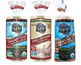 Lundberg Gluten-Free Non-GMO Rice Cakes 3 Flavor Variety Bundle: (1) Vegan Apple Cinnamon, (1) Allergen-Free Organic Honey Nut, and (1) Organic Cinnamon Toast, 9.5-9.6 Oz. Ea. (3 Total)
