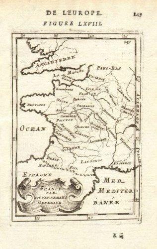 Map Of France Provinces.Amazon Com France Provinces France Par Gouvernmens Generaux