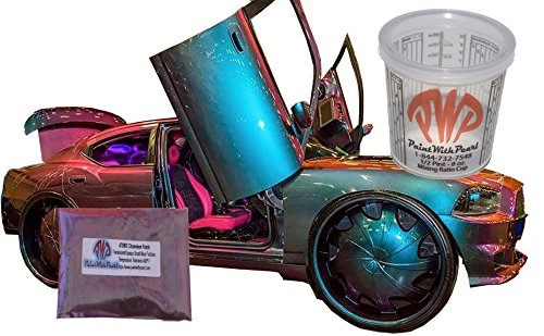 - 25g Cyan Red Green Chameleon Paint Powder - Color Shift Paint Pigment - For Any Custom Paint, Powder Coat, or Epoxy Coating