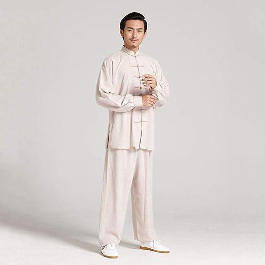 YIWANGO Uniforme De Tai Chi Lino Traje De Yoga Kung Fu Chino ...