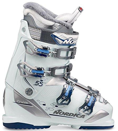 Nordica Cruise 55 W Womens Ski Boots 2018-24.5/White-Blue