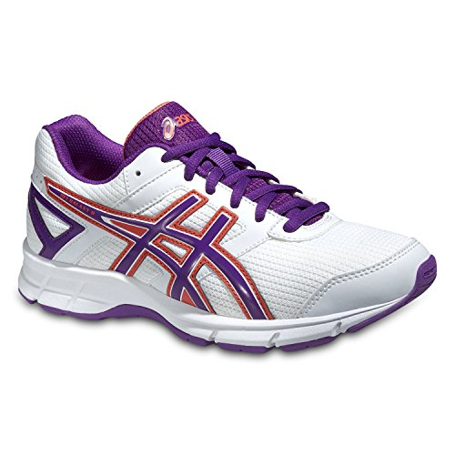ASICS Gel Galaxy 8 GS - Zapatillas de running para niño Multicolor (White / Grape / Living Coral)