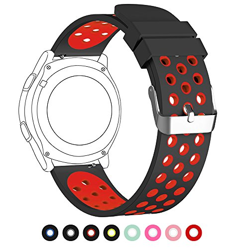 20mm Universal Smart Watch Bands, FanTEK Soft Silicone Sport Quick Release Watch Strap Wristband for 20mm Pebble Round/ Samsung Gear 2 Classic/ Ticwatch 2/ Moto 360 For Men 2nd Gen 42mm--Extra Large