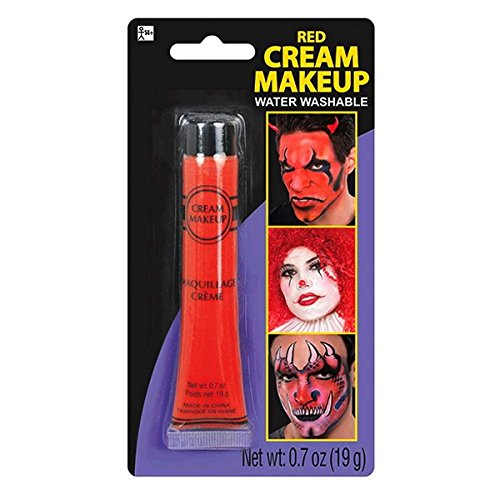 Red Face Paint Costume - Party Ready Fashion Cream Makeup Costume Accessory, Red, 0.7 Ounce Tube