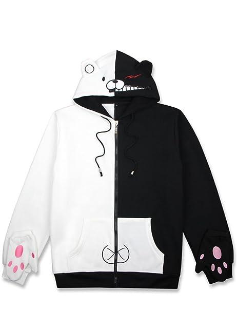 Danganronpa monokuma Hoodies Coats Zipper Baseball Jackets Winter Warm Overcoats