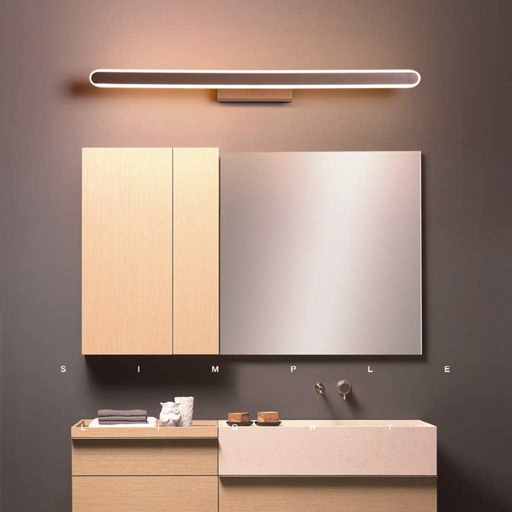-badezimmerlampe Spiegelleuchte - Moderne, schlichte Spiegelleuchte (LED Aluminium Acryl), Schminktisch Garderobe Hotel -40/60/80/100 / 120cm Badleuchte (Color : Three-color dimming-100cm - 39W) Three-color Dimming-80cm - 31w