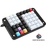 Koolertron Single-Handed Programmable Mechanical Keyboard with Cherry MX Red Switch,All 46 Programmable Keys Tools Keypad,8 Macro Keys,PBT Keycaps.[SMKD72-B]