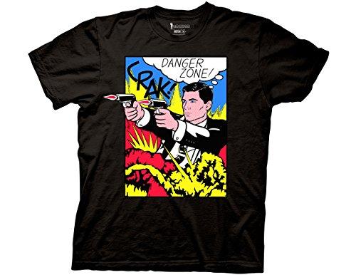 Ripple Junction Archer Pop Danger Zone Adult T-Shirt 2XL Black