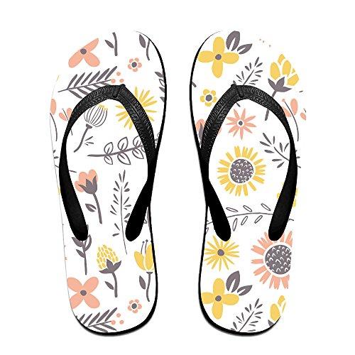 83775fbdd Pastel Flowers Soft Unisex Flip Flops Sandal Summer Beach Slippers For Women  Men 70%OFF