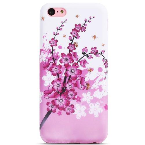 Fosmon DURA Series (TPU) Design Patten Protective Skin Gel Case Cover for Apple iPhone 5C