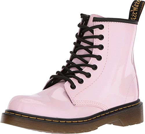 Dr. Martens Girl's Delaney 8-Eye Fashion Boots, Pink, Leather, 12 Little Kid M UK, 13 M