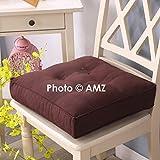 AMZ Microfiber Cushion Seat Pad (16 x 16 Inches, Brown)