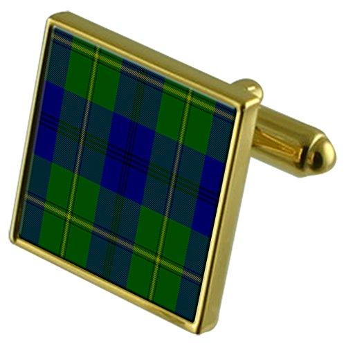 Boutons de manchette or Johnstone Clan Tartan
