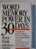 Word Memory Power in Thirty Days, Peter Funk and Barry Tarshis, 0440204224