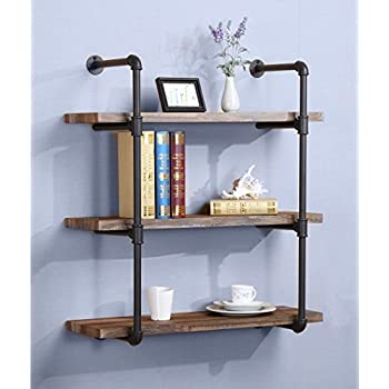 ou0026k furniture 3tier industrial vintage pipe bookshelf rustic pipe shelves for home kitchen