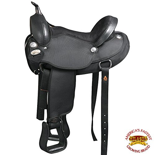 "HILASON 15"" Western Cordura Horse Saddle Leather Flex Tree Trail Pleasure T111"