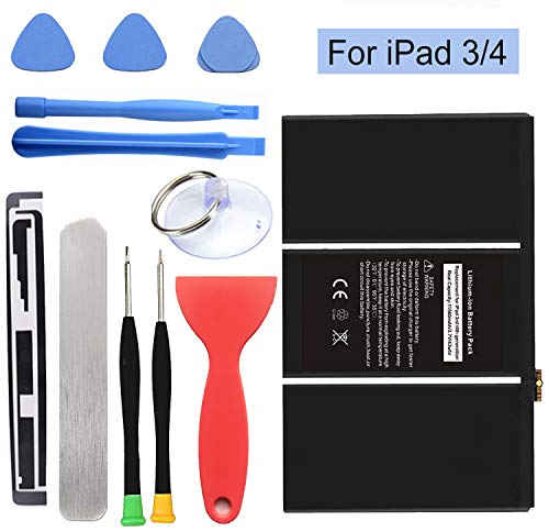 HDCKU Battery for iPad 3(3rd Generation Battery) and iPad 4 (4th Generation Battery) Replacement iPad Battery with Repair Tools(365 Days Warranty) ()