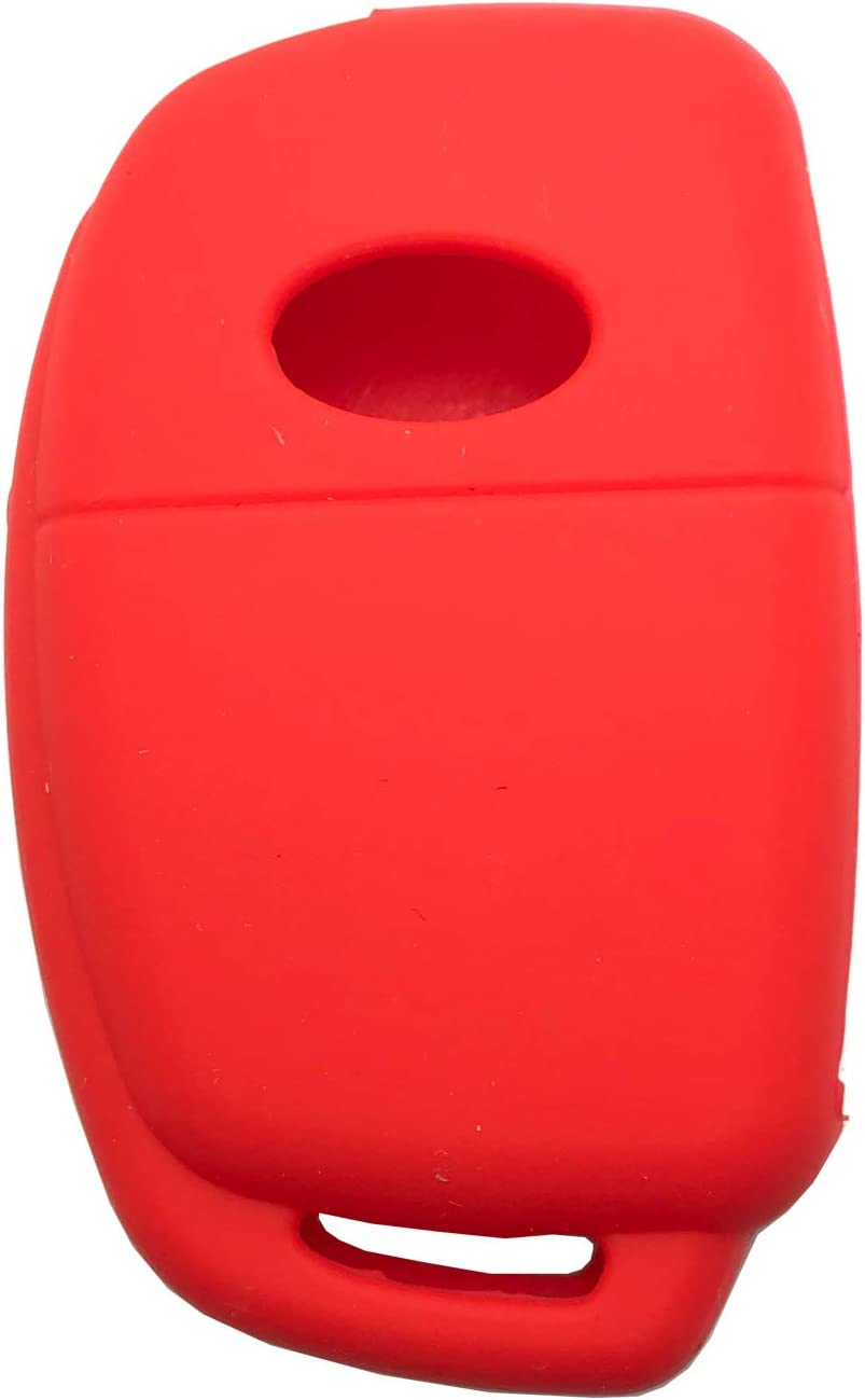 Horande Folding Remote Key Fob Cover Protector Jacket Bag for 2013 2014 Hyundai Santa Fe Sonata Keyless Entry Remote Control Shell Fob Case No Chip