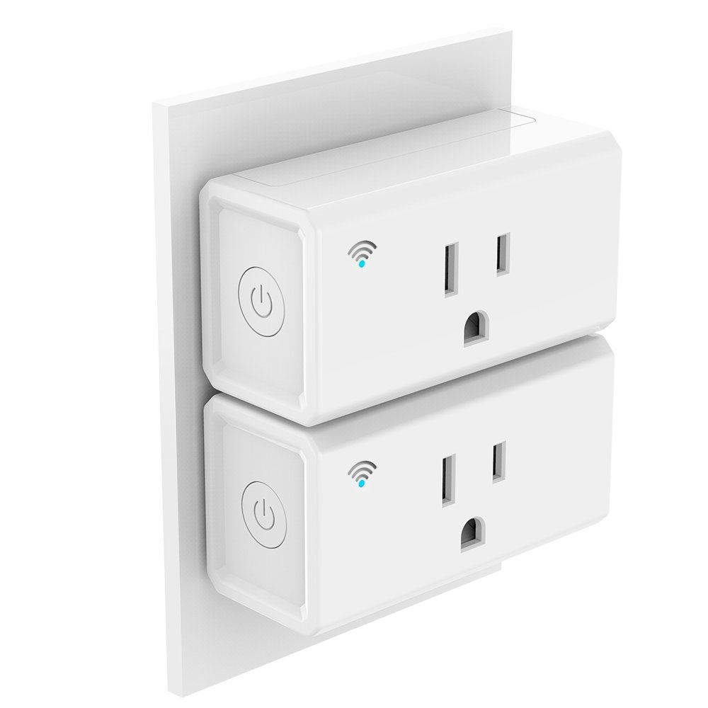 Wireless Wifi Smart Plug Outlet,Smart WiFi Plug Mini, No Hub Required, Works with Amazon Echo, Alexa and Google Home,IFTTT, Control your Devices from Anywhere,remote control your home (2) by Pro-mance