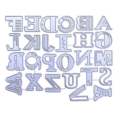 casualcatch ダイカットテンプレート DIY用品 手作り 描画テンプレート カード作り道具 スクラップブッキング用品 切り抜き紙が作れる型 紙飾り用具 機械文字