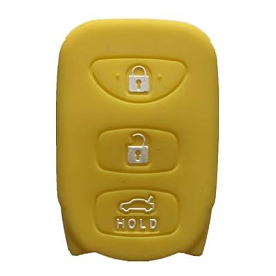 Rpkey Silicone Keyless Entry Remote Control Key Fob Cover Case protector For Hyundai Accent Elantra Sonata Kia Optima Rondo Spectra 95430-2G202 95430-3X500 95430-3K200 95430-3K201 OSLOKA-310T(Yellow): Automotive