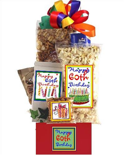 60th Birthday Gift Basket Delight (60th Presents For)
