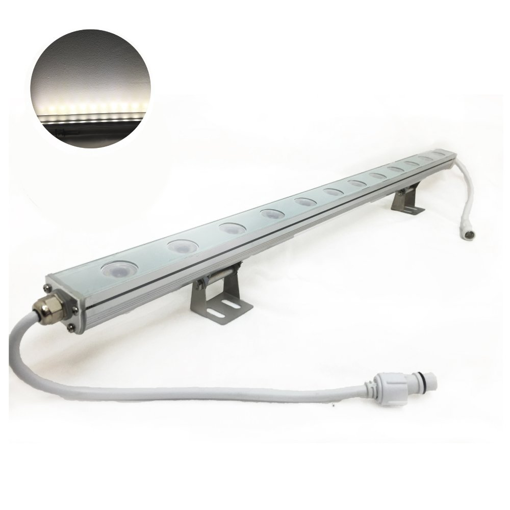 Lineal Bar Wall Washer LED Light - Cool White / Day Light - Outdoor Waterproof (IP67) Directional Fixture - Lighting Effect - DJ Night Club Bar Pub Restaurant Event Show Sign Hotel