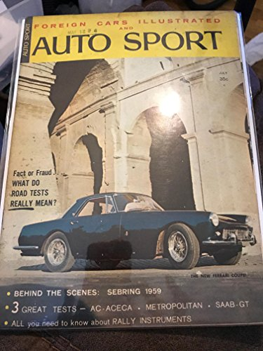 (Picture Information Have one to sell? Sell now Details about   Foreign Cars Illustrated and Auto Sport July 1959 magazine back issue)
