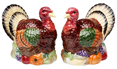 CG SS-CG-56540 Handcrafted Set Of Turkey Salt & Pepper Shakers, 3.75